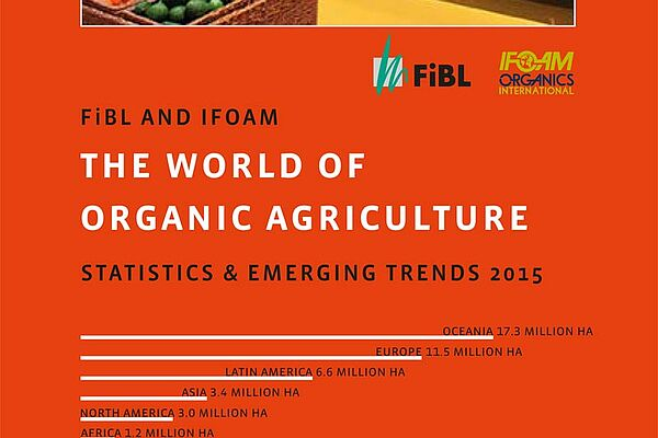 "Titelseite von ""The world of organic 2015"""